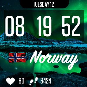 Norway Clock Face